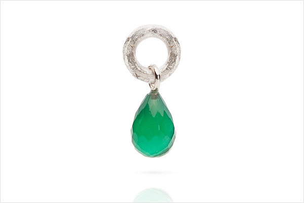 Charm – light silver and green agaat