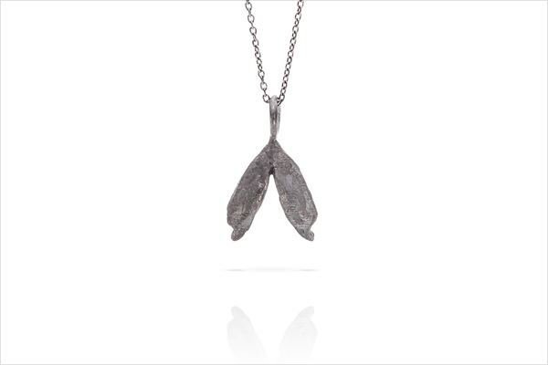 Wish heart necklace – oxidized silver
