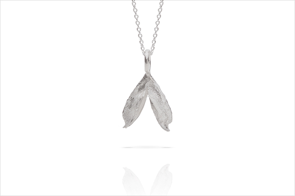 Wish heart necklace – light silver