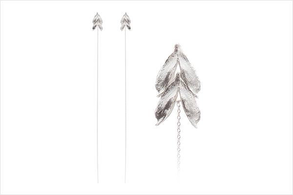 Wish heart earrings – light silver (long)