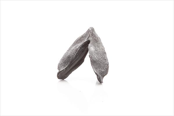 Wish heart earrings – oxidized silver