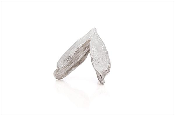 Wish heart earrings – light silver
